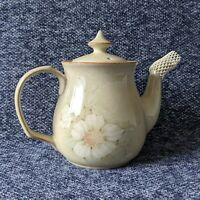 Denby Daybreak Coloroll Tea Pot Green Floral Pattern with Lid Large Pottery