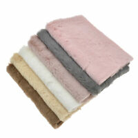 A4 Faux Rabbit Fur Fabric Plush Patchwork Hairbow Clothing Sewing Bag DIY Craft
