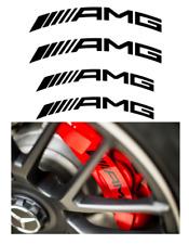 4x AMG Logo Bremssattel Aufkleber schwarz / hitzebeständig / gebogen