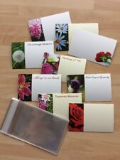 25 Assorted Plain & Remembrance Florist Gift Cards Funeral & Cello Envelopes