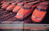 PUBLICITÉ DE PRESSE 1981 LE TRAIN TGV C'EST TOUT UN PROGRAMME SNCF