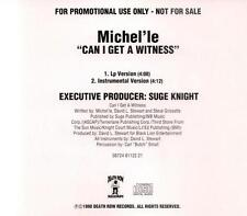 Michel'le: Can I Get A Witness PROMO MUSIC AUDIO CD Suge Knight LP Instrumental