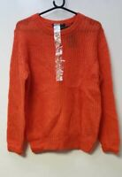 Scotch & Soda Fluffy Crew Neck Pullover Orange Size 2 (UK 10) LN002 MM 01