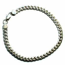 "925 STERLING SILVER Fancy Flat Herringbone Chain Bracelet, 7"" 10.85g - W72"