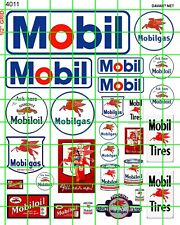 4011 HO 1:87 DAVE'S DECALS VINTAGE MODERN MOBIL GAS/OIL SIGNS ADVERTISING