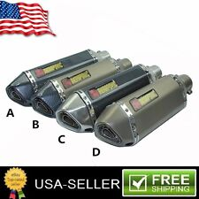 51mm Motorcycle Exhaust Muffler Pipe Vent Pipe With Removable DB Killer Silencer