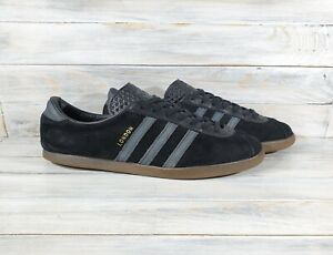 Vintage Adidas London Mens Suede Sneakers Black VERY RARE Casual Shoes