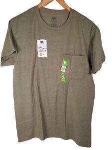 Fruit of the Loom Green Men's Platinum Dual Defense UPF20 Crew T-Shirt SMALL New