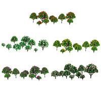 50pcs Model Tree HO N Z Scale Layout Park Garden Scenery Accs 1:75-500
