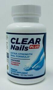 Clear Nails Plus Extra Strength Formula Toenail Fingernail Fungus Supplement NEW