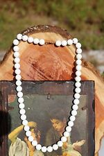 White faceted acrylic bead Art Deco NECKLACE