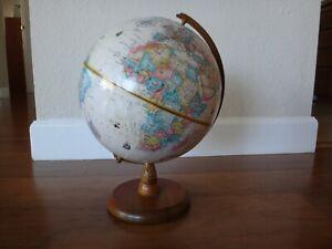 "Vintage Replogle 9"" Globe World Classic Series w/ Solid Wood Base"