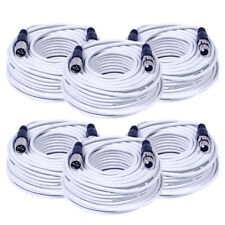 6 Pack of White 100 Foot XLR Microphone Cables - 100' Microphone Cords Mic