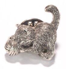 Brooch Lapel Pin - Small Cat Kitten - Ball of Yarn - Silver Tone