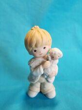 Vintage Homco Boy Holding Lamb figurine