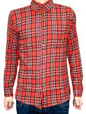 Camicie casual e maglie da uomo rossi aderente