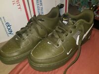 Nike Air Force 1 LV8 Utility GS GREEN Size 5.5Y Size Women's 7 AR1708-300