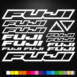 FITS Fuji Bikes Vinyl  Stickers Sheet Frame Cycle Cycling Bicycle Mtb Road