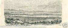 Battle of gitschin jičín Czech prussia army battlefield engraving old print 1866