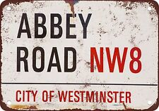 "9"" x 12"" Metal Sign - Beatles Abbey Road - Vintage Look Reproduction"