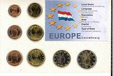 LUXEMBOURG EURO COIN SET - 8 COINS MINT UNCIRCULATED-SEALED IN FOLDER