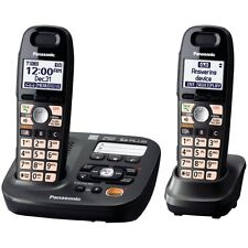Panasonic KX-TG6592T 2-Handsets Cordless Phone Titanium Black 220 Volts