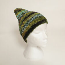 Funky Hand Knitted Winter Woollen Beanie Hat, One Size, UNISEX NB5