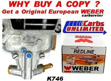 K746 Toyota 20R 22R Weber Carb Conversion Kit - Weber 32/36 DGEV Carb - 1 Yr War