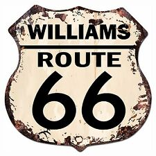 BP-0021 WILLIAMS ROUTE 66 Shield Rustic Chic Sign Bar Store Shop Home Decor