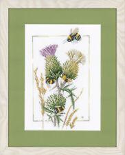 Lanarte Counted Cross Thread Stitch Kit Chardon abeilles 14 Comte Aida 23 x 32 cm