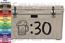 Beer Thirty Mug :30 for Yeti Cooler Car Shadow Box Sticker Vinyl Decal Choice