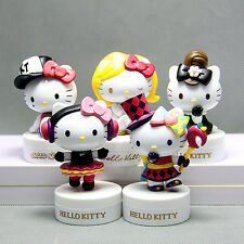 5pcs 8CM Fashion serie Hello kitty Anime action figure collection PVC Toys Gifts