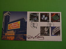 Bradbury FDC COVER 1996 CINEMA firmato produttore cinematografico SIR David puttnam CBE