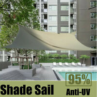 Sun Shade Sail Rectangle Canopy Anti-UV Waterproof Awning Storage Bag