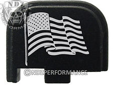 for Glock 42 ONLY Rear Slide Cover Plate .380 Cal G42 Black US Flag Wave 2