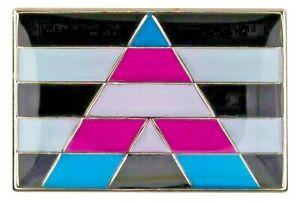 TRANSGENDER ALLY Flag Lapel Pin -  High Quality Enamel (LGBT Gay Pride)