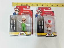 Nintendo Super Mario Bros. Luigi & Red Toad Action Figure Set ~ Ships FREE