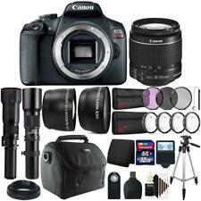Canon EOS Rebel T7 DSLR Camera + 18-55mm + 500mm + 650-1300mm Lens Accessory Kit