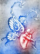ART PRINT POSTER PAINTING DRAWING COOL FAIRY WINGS TATTOO PICTURE LFMP1008