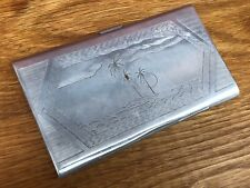 Second World War WW2 'Trench Art' POW Aluminium Cigarette Case North Africa