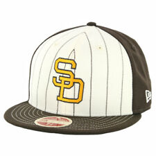"""New Era 59Fifty San Diego Padres 91' """"Vintage Stripe"""" Fitted Hat (BR) Men's Cap"""