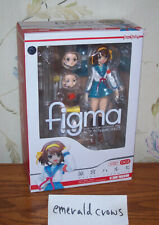 Max Factory figma 002 Melancholy of Haruhi Suzumiya School Uniform NEW Authentic