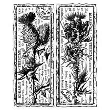 Crafty Individuals TWO SCOTTISH THISTLES Unmounted Red Rubber Stamps