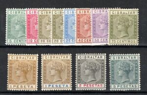 Gibraltar 1889-96 Spanish currency set to 5p MLH/MH