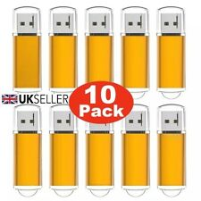10 Paquete a granel 1/2/4/8/16/32GB USB 2.0 Memory Stick Flash Pen Drive-Oro