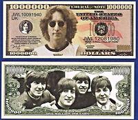 2-John Lennon Beatles  Dollar Bills  -Novelty  - Collectible- Music- MONEY- L1