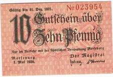 Duitsland stadsgeld / Notgeld - Merseburg - 10 pfennig (4157b)