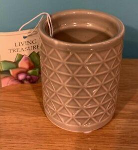 Geometric Design Beige Ceramic Planter Pot - perfect for a succulent