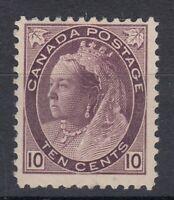 """Canada MINT OG Scott #83  10 cent brown violet  """"QV Numeral""""  F"""