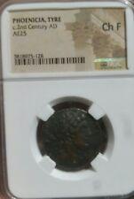 Phoenicia Neumático C. 2nd Siglo NGC Ch F. Raro Roman Provincial Moneda